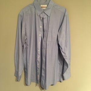 Roundtree and Yorke Blue Dress Shirt TALL